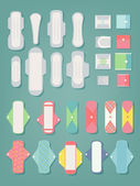 Sanitary pads icons — Stock Vector