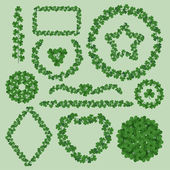 Clover leaves frames — Stock vektor
