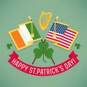 Happy Saint Patrick's  flags — Stock Vector