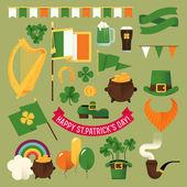 Happy Saint Patrick's Day  items — Stock Vector