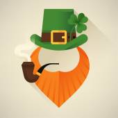 Saint Patrick's Day leprechaun — Stock Vector