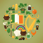 Saint Patrick's Day icons — Stock Vector