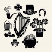 Happy Saint Patrick's Day items — Vetor de Stock