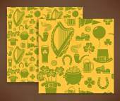 St. Patrick's Day wrapping paper pattern — Stock Vector