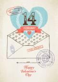 Valentine's Day envelope — Stock Vector