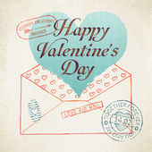 Valentine's Day envelope — Vetor de Stock