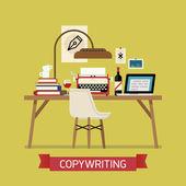 Creative illustration on copywriting. — Stock Vector