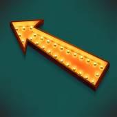 Arrow  with electric bulbs. — Stock Vector
