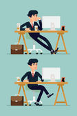 Bored office worker — Stock Vector
