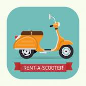 Scooter hire company icon — Stock Vector