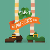 St. Patrick's Day celebration postcard — Vetor de Stock