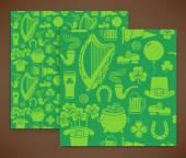 Seamless pattern on Saint Patrick's Day — Stock Vector