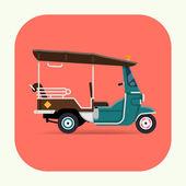 Tuk tuk three wheeled tricycle — Stock Vector