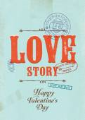 'Love Story'  poster — Stock Vector