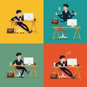 Business men at work. — Stok Vektör