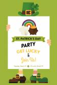 St. Patrick's Day greeting postcard — Stock Vector