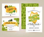 Saint Patrick's Day  invitation card — Stock Vector