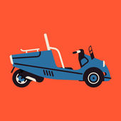 Scooter car icon — Stock Vector