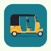 Auto rickshaw tuk tuk icon — Stock Vector
