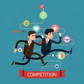 Businessmen competition run — Vector de stock