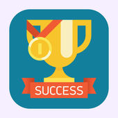 Web icon on success — Stock Vector