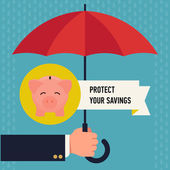 Protect your savings — Stock Vector