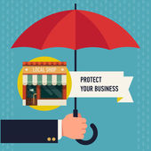 Business protection of  local shop — Vetor de Stock