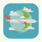 Airliner plane icon — Stock Vector