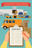 Airport service vehicles — Vector de stock