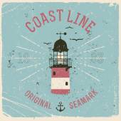 Coast Line lighthouse — Stock Vector
