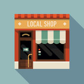 Local shop store facade — Stock Vector