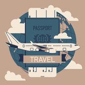 Passport for travel — Stock Vector