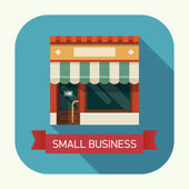 Small business with local store — Stock Vector