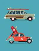 Design recreational vehicle icons — Vector de stock