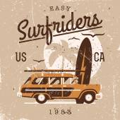Retro Surf items — Stock Vector