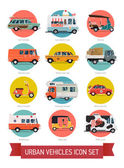 Urban traffic and city cars — Wektor stockowy