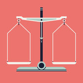 Balance scales measurement tool — Stockvektor