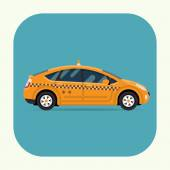Modern Yellow taxi cab — Stock Vector