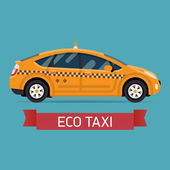 Eco taxi transport — Stock Vector