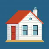 Classic small house building. — Stock Vector
