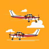 Small personal airplanes — Stock Vector