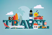 Summer travel, touristic destinations — Stock Vector