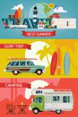 Best summer vacation tourism — Stock Vector