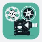 Cool retro movie projector — Stock Vector #66481731