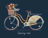 Retro bicycle for ladies — Wektor stockowy