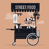 Mobile cafe stand illustration — Stock Vector