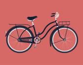 Retro vintage bicycle — Stockvektor