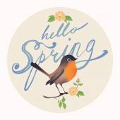 Hello Spring  hand drawn — Stock Vector