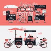 Street food festival event — Wektor stockowy