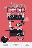 Street food festival event — Stock Vector